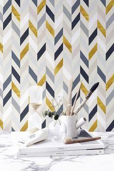 Vinyl Wallpaper, Peelable Wallpaper, Washable Wallpaper, Wallpaper For Walls, Herringbone Wall, Herringbone Pattern, Wall Sticker, Wall Decals, Bohemian Room Decor