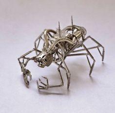 Saat mekanizmalı mekanik böcekler (9 fotoğraf)