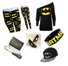 """""""Because Batman is dream boyfriend"""" by the60stiedyehippie ❤ liked on Polyvore featuring Hush"""