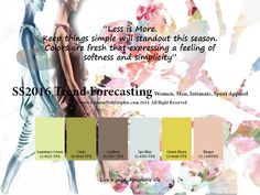 Ideas about Color Trends: Trend Forecasting for Women, Men, Intimate,. Summer 2016 Trends, Trends 2016, 2016 Fashion Trends, Spring Summer 2016, Trend Forecast 2018, Illustrator, Fashion Forecasting, World Of Color, Color Stories