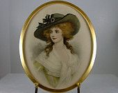 Framed Watercolor Portrait ca. 1909 - 1920