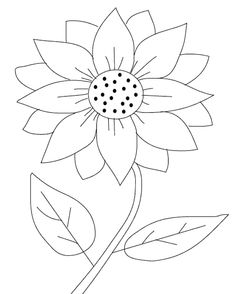 sunflower coloring page - Google Search