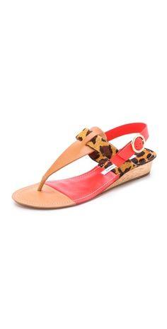 Diane von Furstenberg Darling Demi Wedge Sandals | SHOPBOP