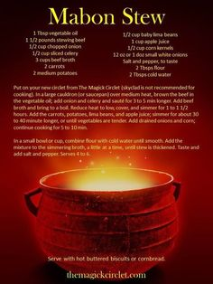 Mabon Stew from Wiccan By Nature