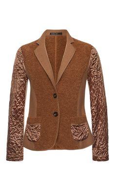Blazer with textured pattern | marc-cain.com/en