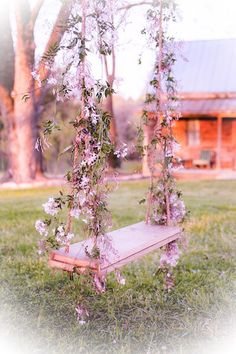 Surround yourself with things that make you happy. Rose Cottage, Shabby Cottage, Flower Decorations, Wedding Decorations, Wedding Swing, Rose Decor, Summer Wallpaper, Garden Pictures, Aesthetic Themes