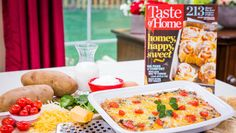 Make your mornings easy w/ a Beef & Potato  Egg bake! Catch #homeandfamily weekdays at 10/9c on Hallmark Channel!