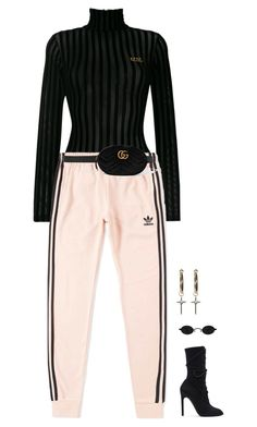 """""""Untitled #2861"""" by chanelzizzles ❤ liked on Polyvore featuring GCDS, adidas, adidas Originals and Gucci"""