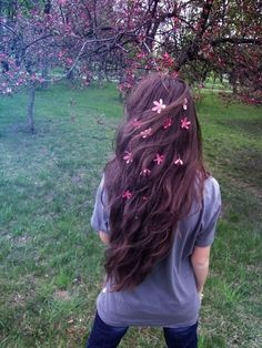 I want to frolic around with flowers in my hair.