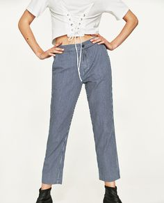 Image 3 of CROPPED TROUSERS WITH ELASTIC WAIST from Zara