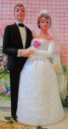 Modern Vintage / Wedding Cake Topper / Bride by chocolateletters, $4.50
