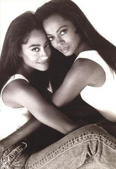 Diana Ross with her daughter actress Tracie Ellis Ross.