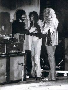 Led Zeppelin backstage