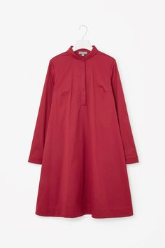 COS image 10 of Round-collar shirt dress in Red