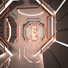 scifi interior modelling cinema 4d - Google Search