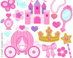SALE Little Princess Cute Digital Clipart for por JWIllustrations