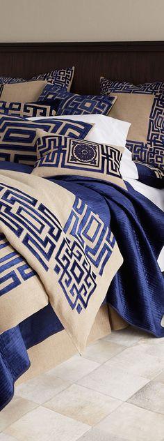 Callisto Home Bedding via @amarandos. #patternplayathome #bedrooms