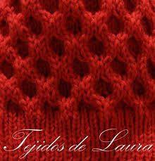 Mi bolso de tejidos.: Panal rojo.