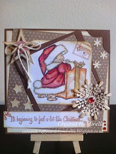 card with Mo Manning image from Cute and Crafty Cards by Mirella: It's beginning to feel a lot like Christmas*.....