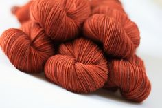 Tempo 4ply in Autumn lot 280512 hand dyed by EdenCottageYarns, via Etsy.