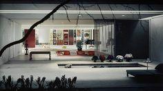 Eero Saarinen - Miller house, Columbus IN 1953