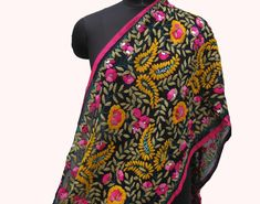 Your place to buy and sell all things handmade Paisley Design, Embroidery Techniques, Back To Black, Vera Bradley Backpack, Wallpaper Backgrounds, Different Styles, Shawl, Sequins, Unisex