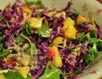Cantinho Vegetariano: Salada de Repolho Roxo e Abacaxi (vegana)