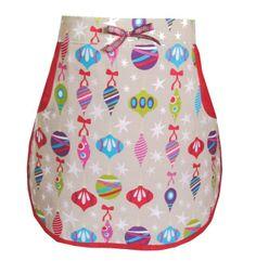 Retro peg half apron Christmas bauble design - one size £8.00
