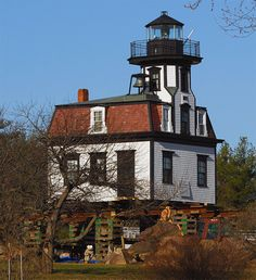 Colchester Reef #Lighthouse - #Vermont at Lighthousefriends.com    http://dennisharper.lnf.com/