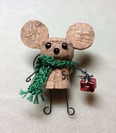 Cute cork mouse! (Champagne cork)