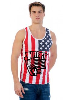 Happy 4th of july Flag shirt  Men's Jersy Tanktop 4th Of July Independence Day tank top Shirt Gift patriot tee celebration  #4thofjuly #americanflag #july4th #independenceday #celebration