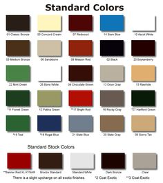 Best Standing Seam Metal Roof Colors Please Note That Colors 640 x 480