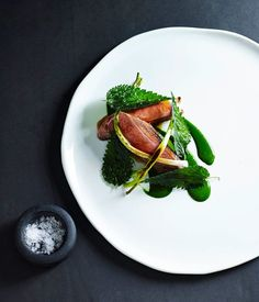 Slow-cooked duck breast with leeks and nettle sauce recipe, Brent Savage, Gourmet Institute :: Gourmet Traveller