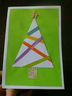 Recycle paper Christmas tree