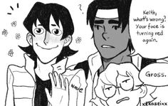 voltron | Tumblr (Meanwhile ... Lance is having heck of a time with future Keith.)