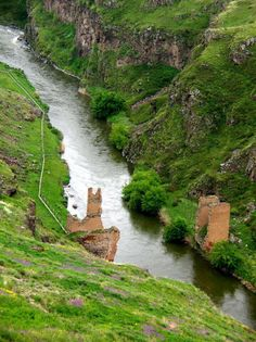 The ancient city of Ani ~ border between present day Turkey (left) and Armenia (right)
