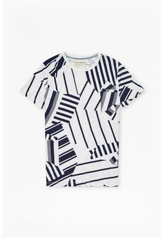 Mustang Stripe Printed T-Shirt