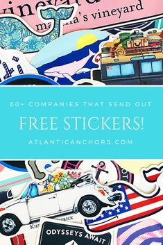 Free Preppy Stickers from 60 Companies - Atlantic Anchors Free Preppy Stickers, Cool Stickers, Printable Stickers, Planner Stickers, Yeti Cooler Stickers, Preppy Brands, Brand Stickers, Free Stickers Online, Preppy Essentials