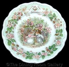 FOR SALE Royal Doulton BRAMBLY HEDGE four seasons SUMMER jill barklem 8  wall PLATE 1st #followvintage