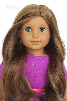 American Girl Doll Custom Marisol Marie-Grace aqua eyes and caramel wig OOAK