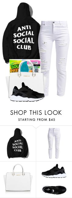 """ANTI"" by alexanderbianca ❤ liked on Polyvore featuring Miss Selfridge, Michael Kors and NIKE"
