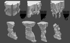 ArtStation - Env Rock Formations Assets, Eitan Daniel