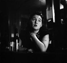 Eve Arnold USA. 1950. New York. New York City. Female bartender on strike. Men wouldn't allow women into bars.