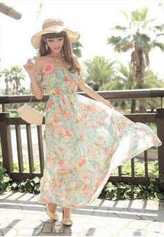 off shoulder chiffon printed dress