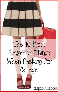 The 10 Most Forgotten Things When Packing for College - Prep Avenue