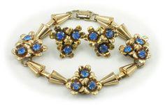Vintage Barclay floral demi parure $75   http://www.vintagecostumejewelryaddiction.com/vcja802.html