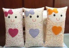 Sewing Pillows Animals Fabrics 19 Ideas For 2019 Sewing Patterns For Kids, Sewing Projects For Kids, Sewing For Kids, Baby Sewing, Doll Patterns, Fabric Toys, Fabric Crafts, Sewing Crafts, Kids Pillows