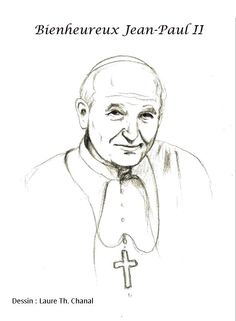 Bl. Pope John Paul II Catholic Coloring Page.  Feast day is October 22nd.