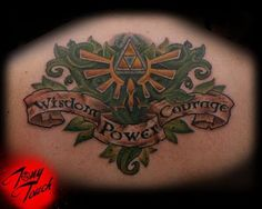 You rarely see an original triforce tattoo! Pinned this as an idea for gamer #hubbyofawesome