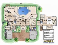 Mediterranean House Plans: Luxury Mediterranean Style Home Floor Plans Dream House Plans, House Floor Plans, Outdoor Spa, Outdoor Living, Different House Styles, House Plans With Photos, Mediterranean House Plans, Mountain House Plans, Tuscan House